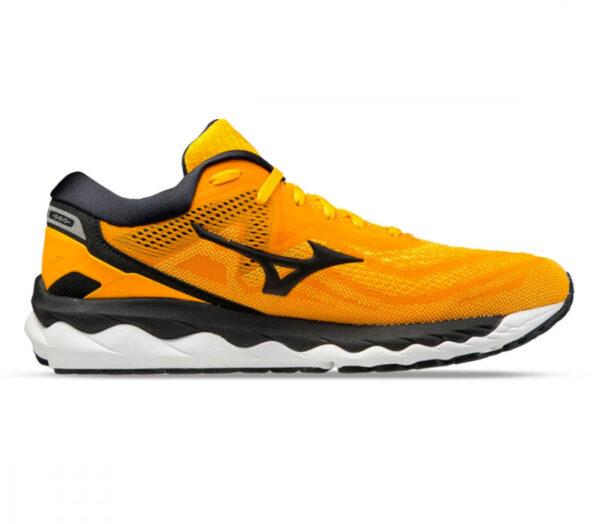 scarpa running uomo mizuno wave sky 4 gialla e nera