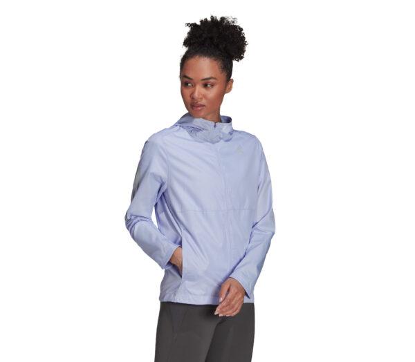 giacca a vento da running per donna adidas own the run colore lilla