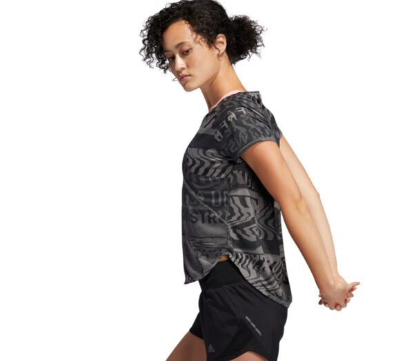 tshirt running donna adidas own the run nera