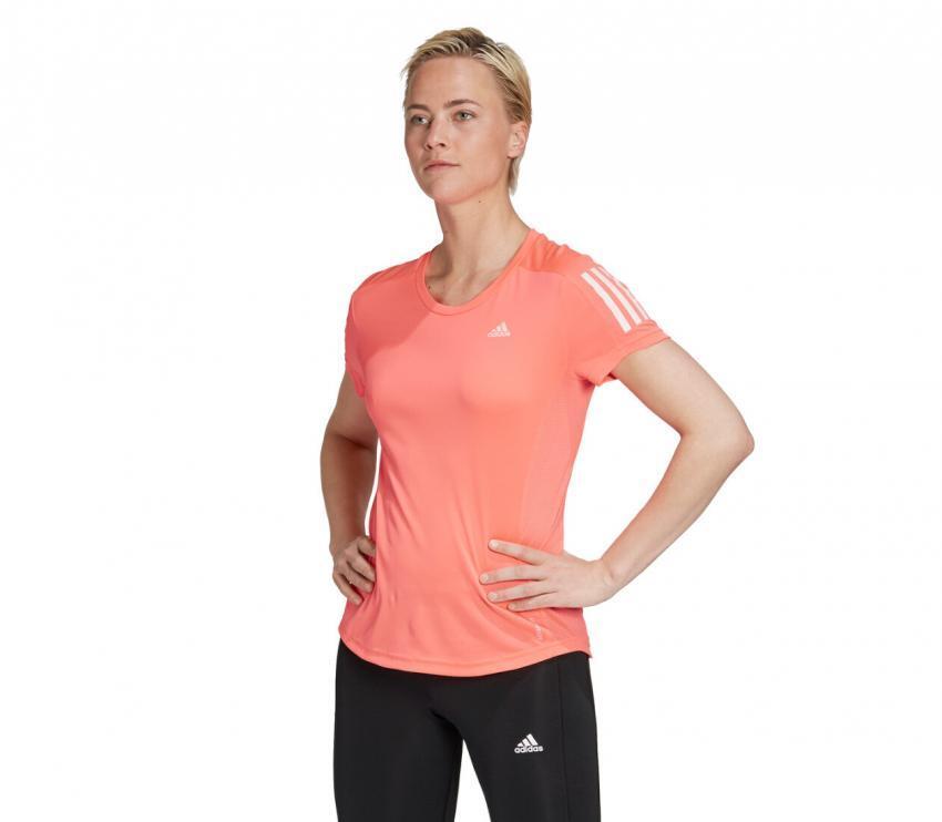 tshirt running donna adidas own the run rosa