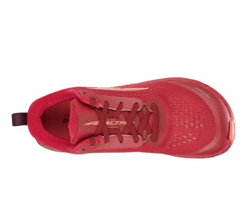 tomaia scarpa da running minimale donna altra paradigm 5 rossa
