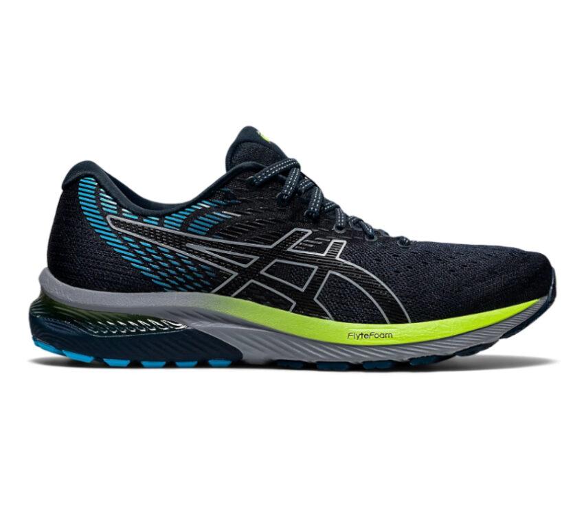 scarpe da running asics cumulus 22 blu e nera