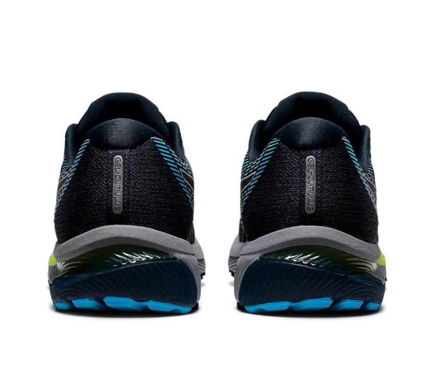 tallone scarpe da running asics cumulus 22 blu e nera