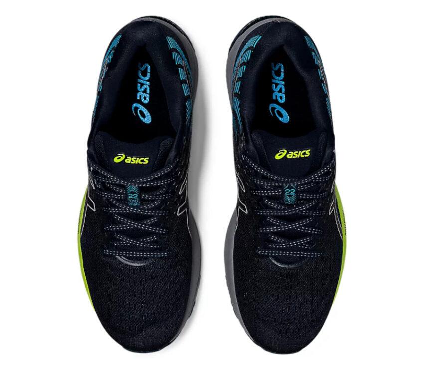 tomaia scarpe da running asics cumulus 22 blu e nera