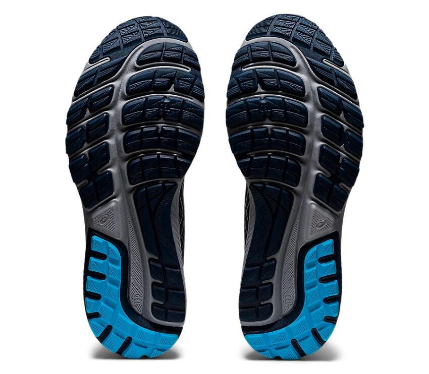suola scarpe da running asics cumulus 22 blu e nera