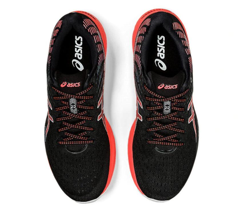 tomaia scarpa running uomo asics gel cumulus 22 tokyo rossa