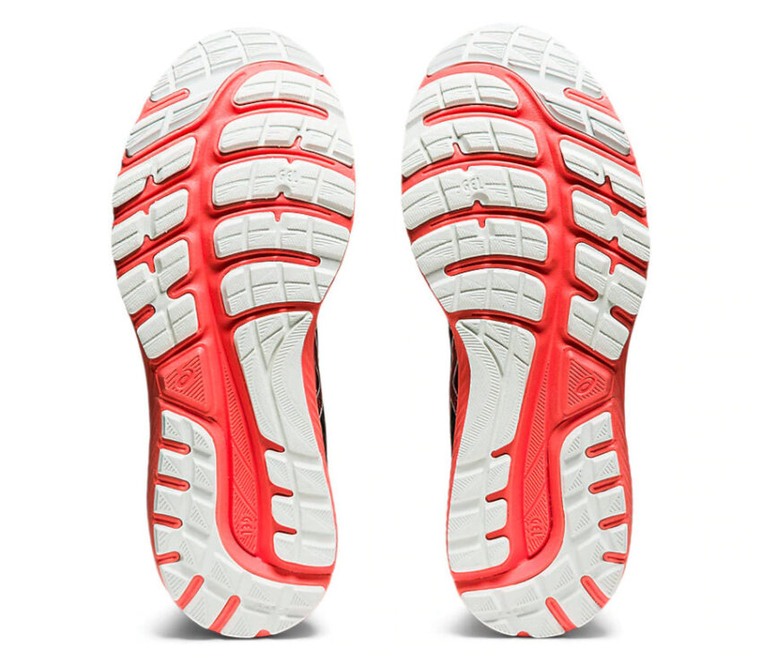 suola scarpa running uomo asics gel cumulus 22 tokyo rossa