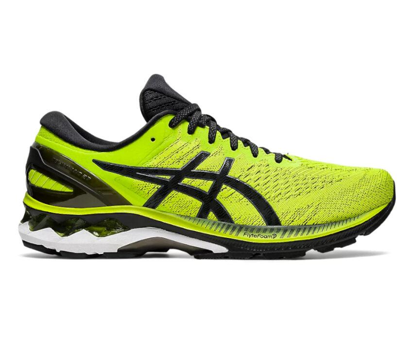 scarpa running stabile asics gel kayano 27 da uomo gialla e nera