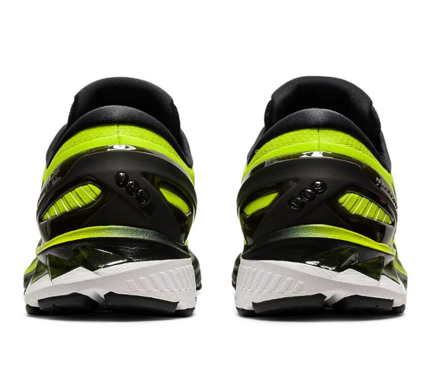 retro coppia scarpe asics gel kayano 27 da uomo stabili gialle e nere