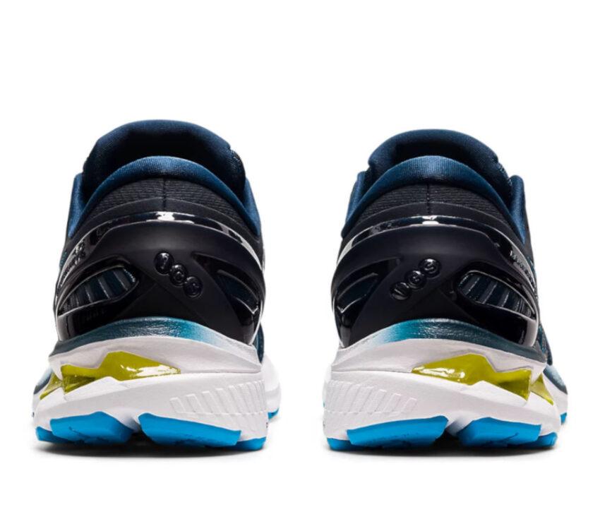 retro scarpe running uomo asics gel kayano 27 blu e bianche