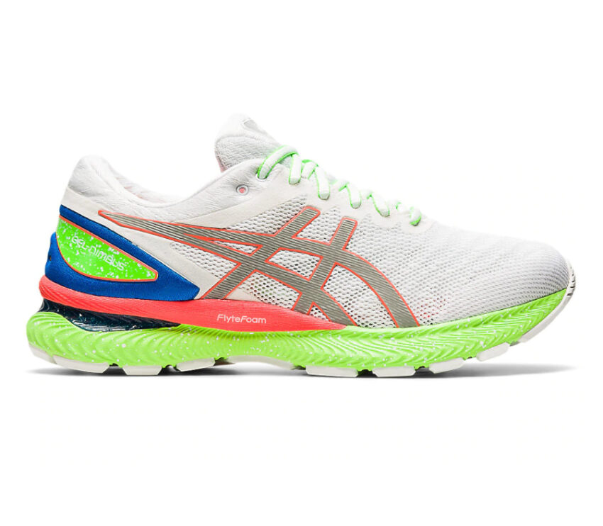 scarpa da running uomo asics nimbus 22 lite show riflettente