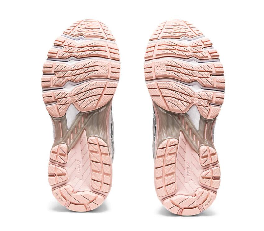 suole scarpa da running donna asics gt 2000-8 grigia e rosa