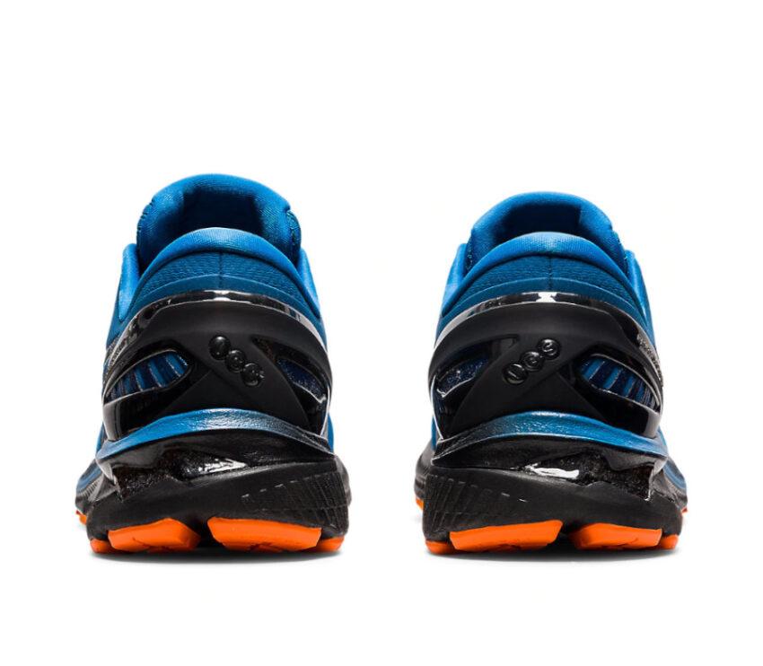 scarpa da running uomo asics kayano 27 blu tallone