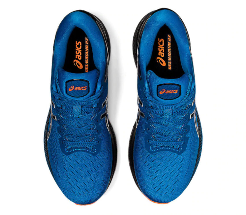 tomaia scarpa da running uomo asics kayano 27 blu