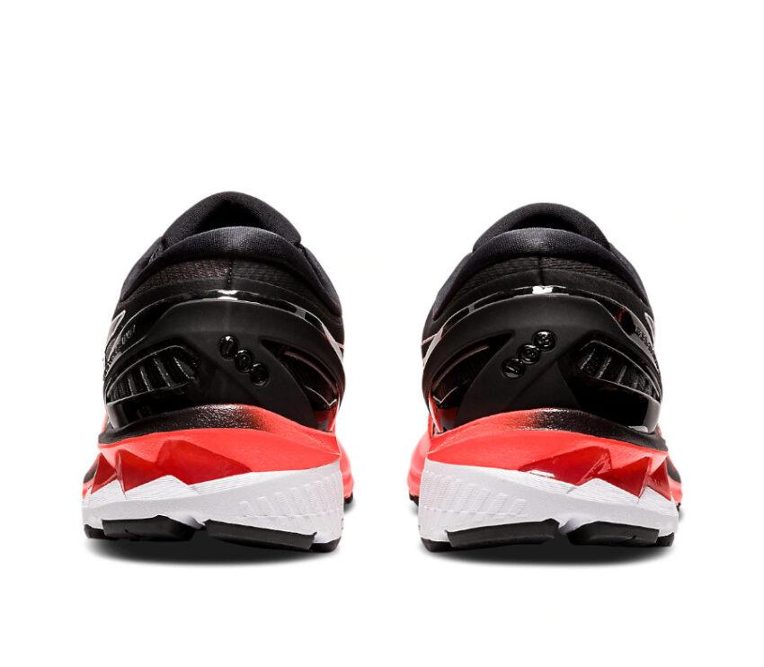 tallone scarpa da running uomo asics kayano 27 rossa tokyo