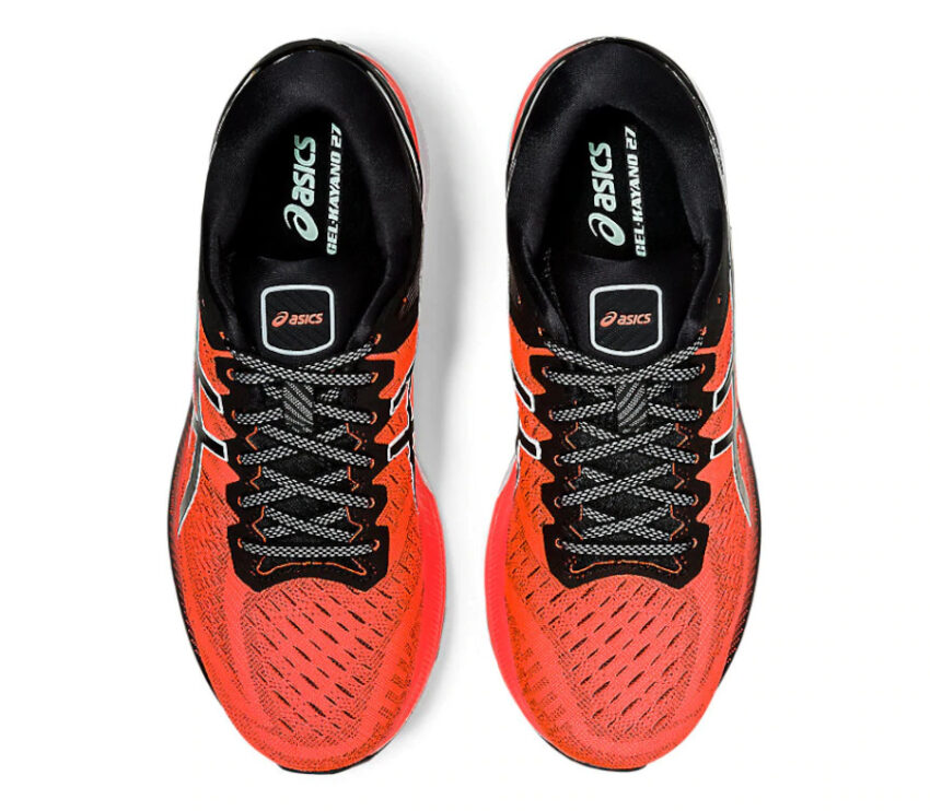 tomaia scarpa da running uomo asics kayano 27 rossa tokyo