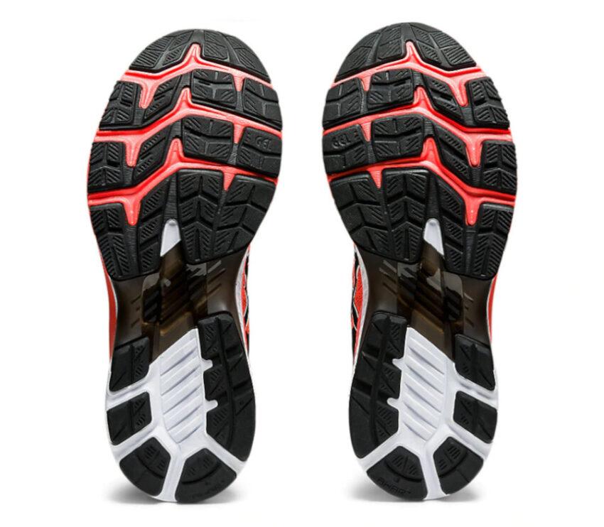 suola scarpa da running uomo asics kayano 27 rossa tokyo