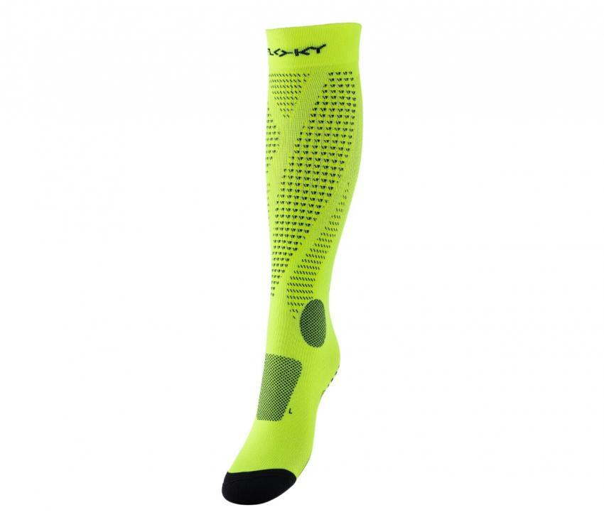 calza a compressione floky run up giallo fluo