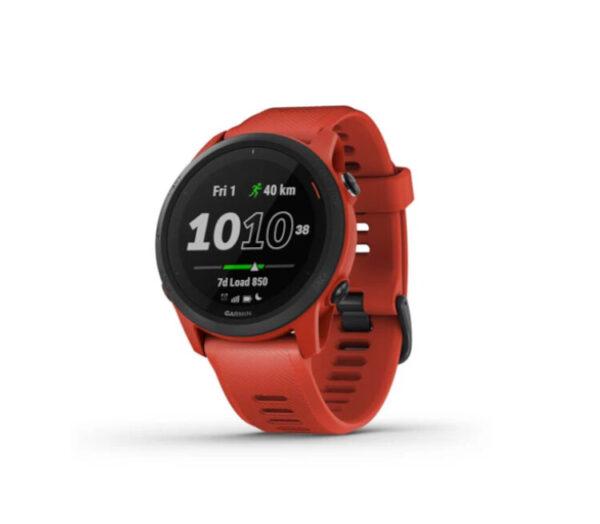 orologio gps running garmin forerunner 745 rosso