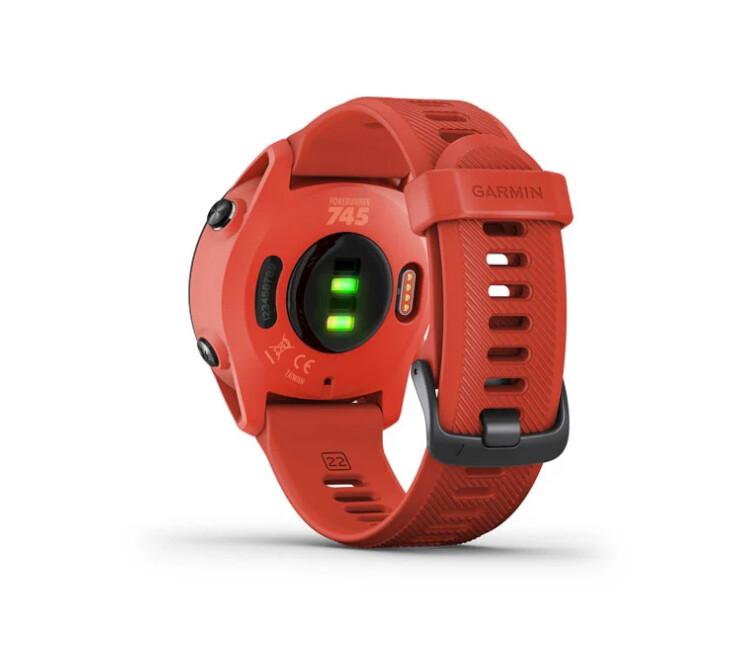cardio orologio gps running garmin forerunner 745 rosso