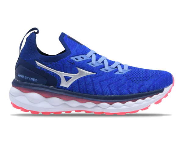 scarpa running uomo mizuno wave sky neo blu