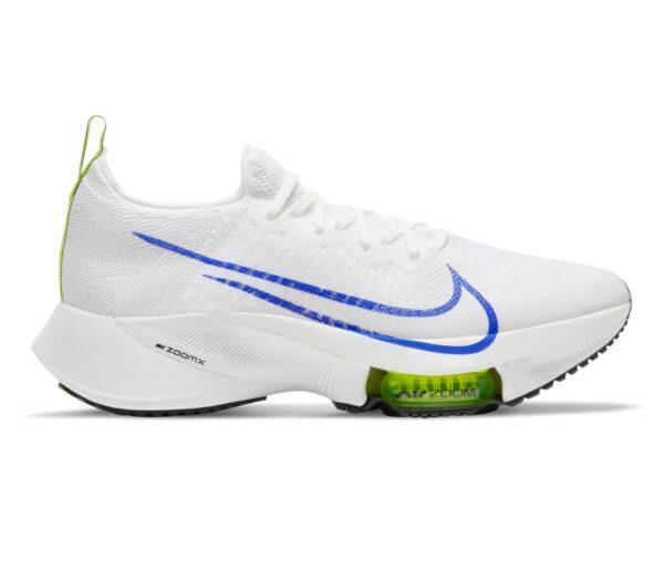 scarpa running nike air zoom tempo next bianca e blu