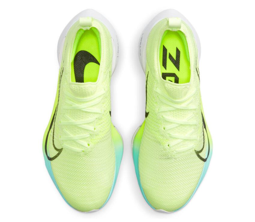 tomaia scarpa da running reattiva nike tempo next fluo