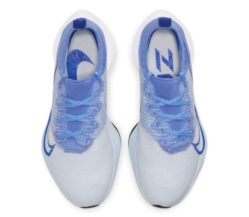 tomaia scarpe da running donna nike air zoom tempo next blu