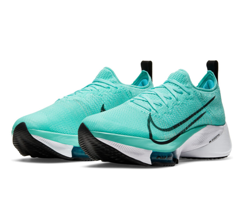 coppia scarpa running donna nike air zoom tempo next fk turchese