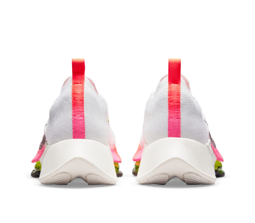 tallona scarpa da running uomo veloce nike air zoom tempo next fk bianca e rosa