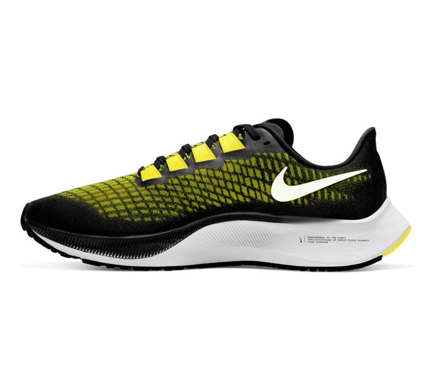 interno scarpa da running uomo pegasus 37 nike giallo e nera