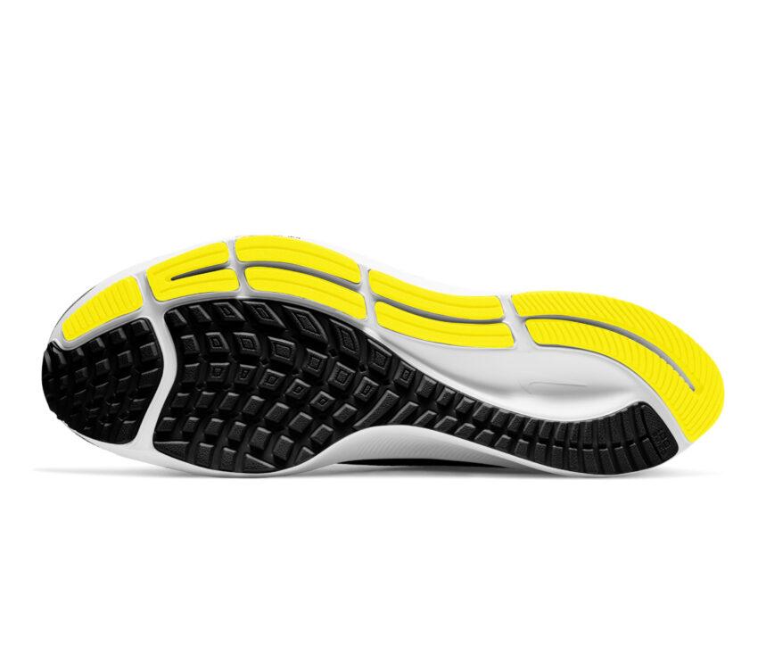 suola scarpa da running uomo pegasus 37 nike giallo e nera