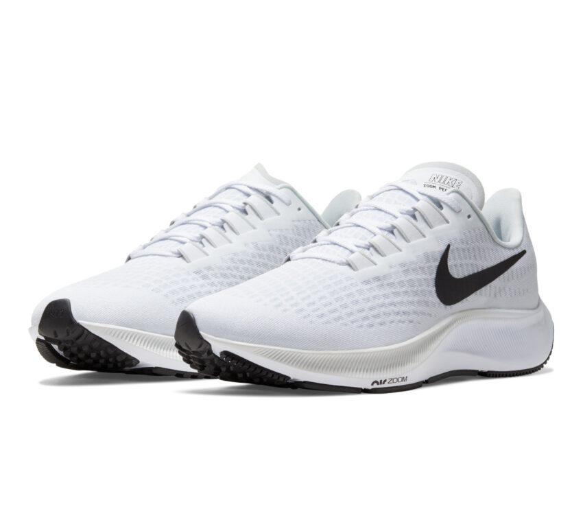coppia pegasus 37 nike scarpa running uomo bianca 100
