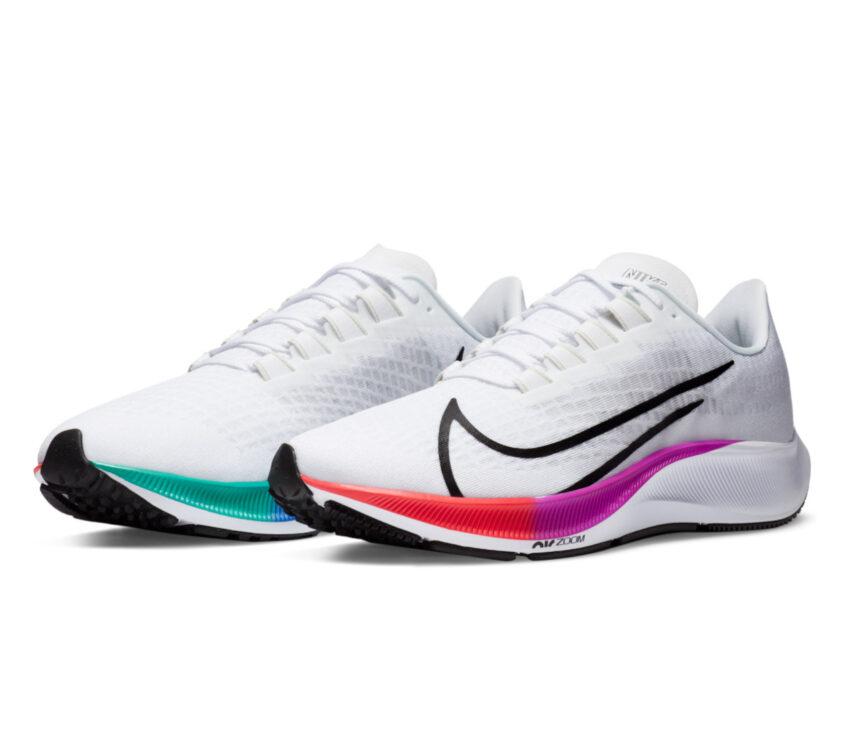 coppia pegasus 37 nike scarpa running uomo bianca 103