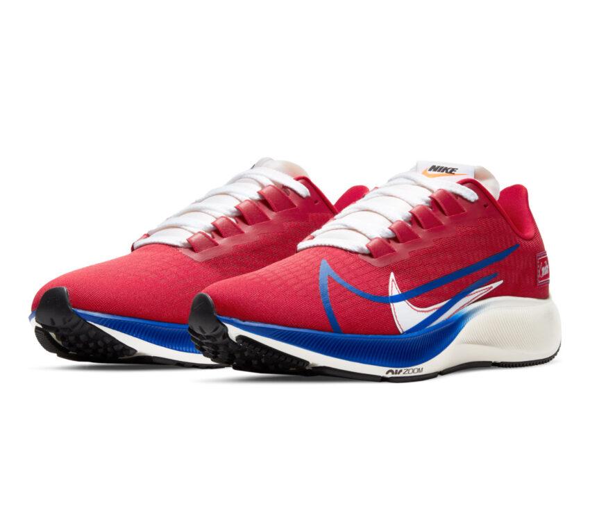 coppia scarpa da running uomo nike pegasus 37 rossa
