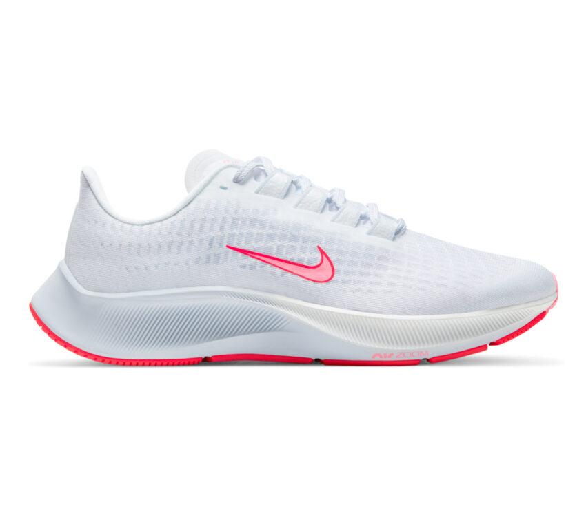 scarpa da running donna pegasus 37 bianca e rosa