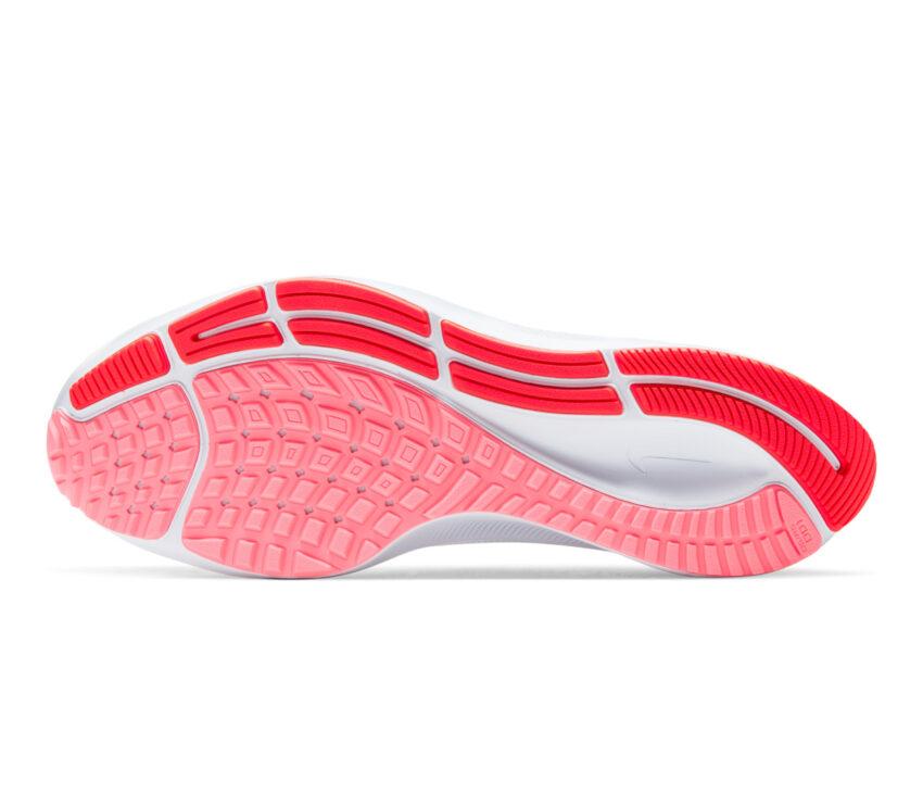suola scarpa da running donna pegasus 37 bianca e rosa