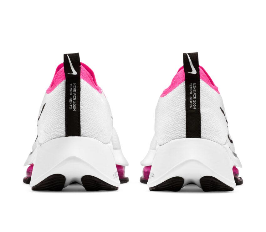 tallone scarpa running donna nike zoom tempo % bianca e rosa