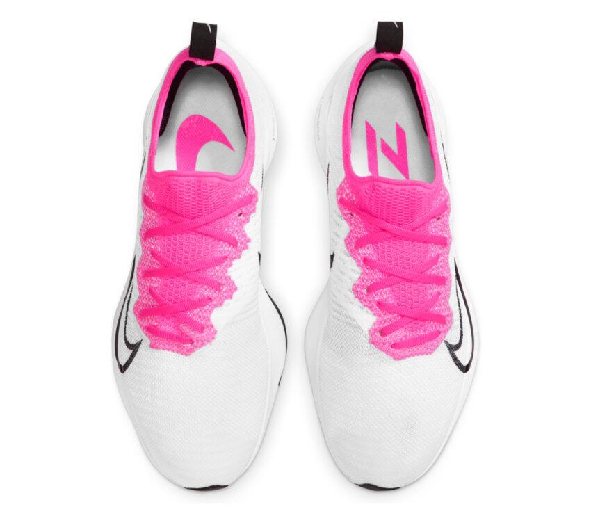 tomaia scarpa running donna nike zoom tempo % bianca e rosa