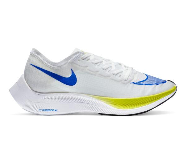 scarpa da running fibra di carbonio nike zoomx vaporfly bianca