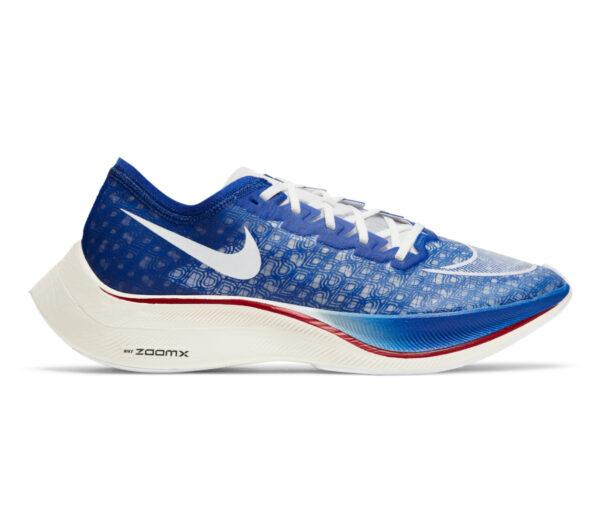 scarpa da running in fibra di carbonio nike vaporfly zoomx blu
