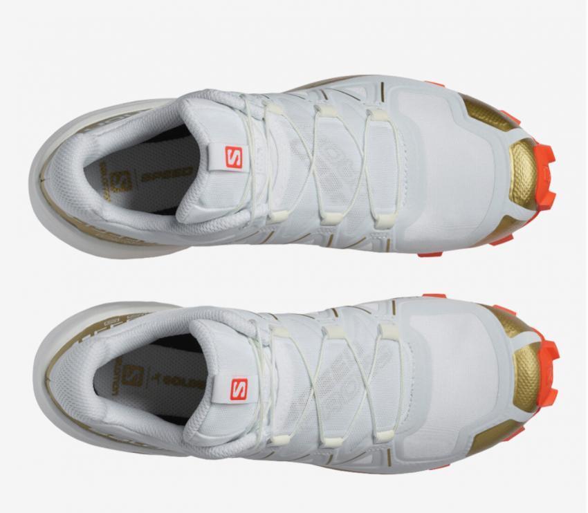 tomaia scarpa da trail donna salomon speedcross 5 gts bianca
