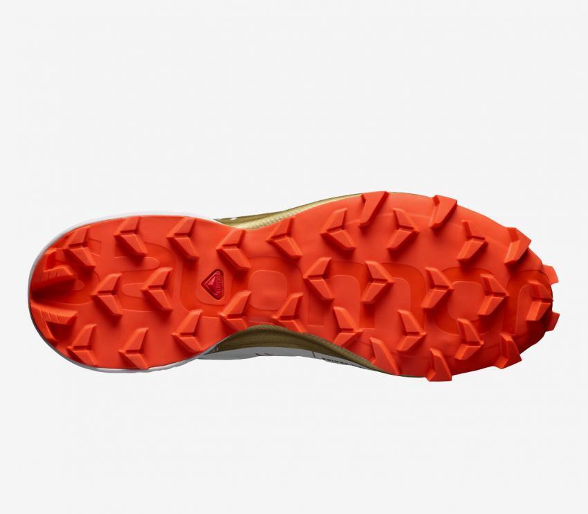 suola scarpa da trail donna salomon speedcross 5 gts bianca