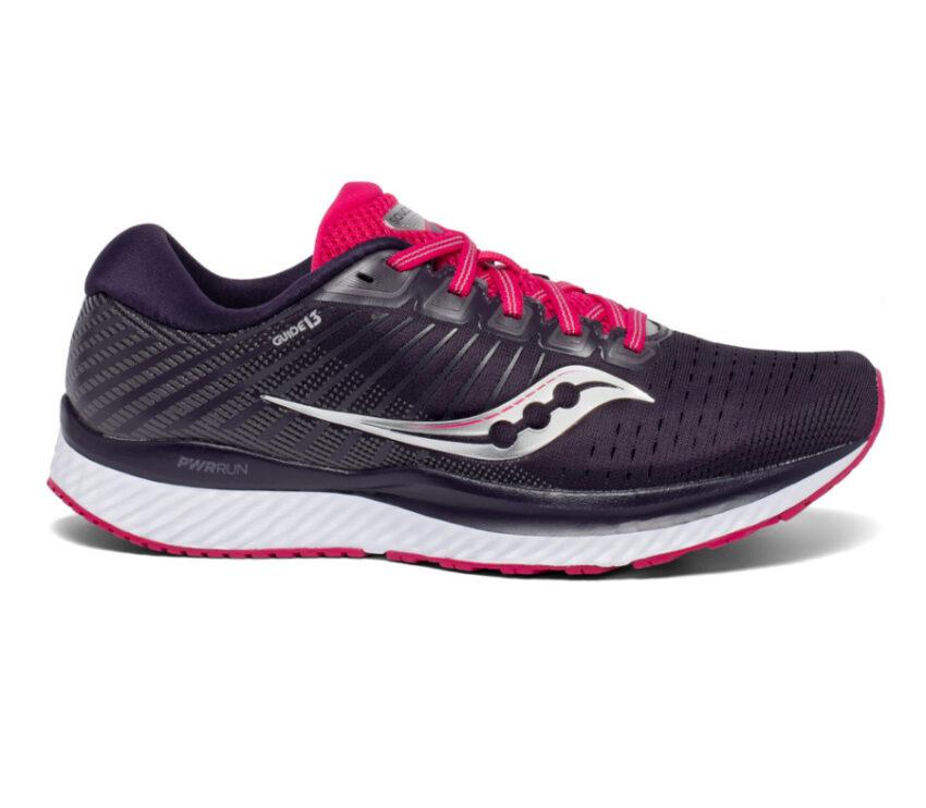 scarpa da running donna saucony guide 13 nera e rosa