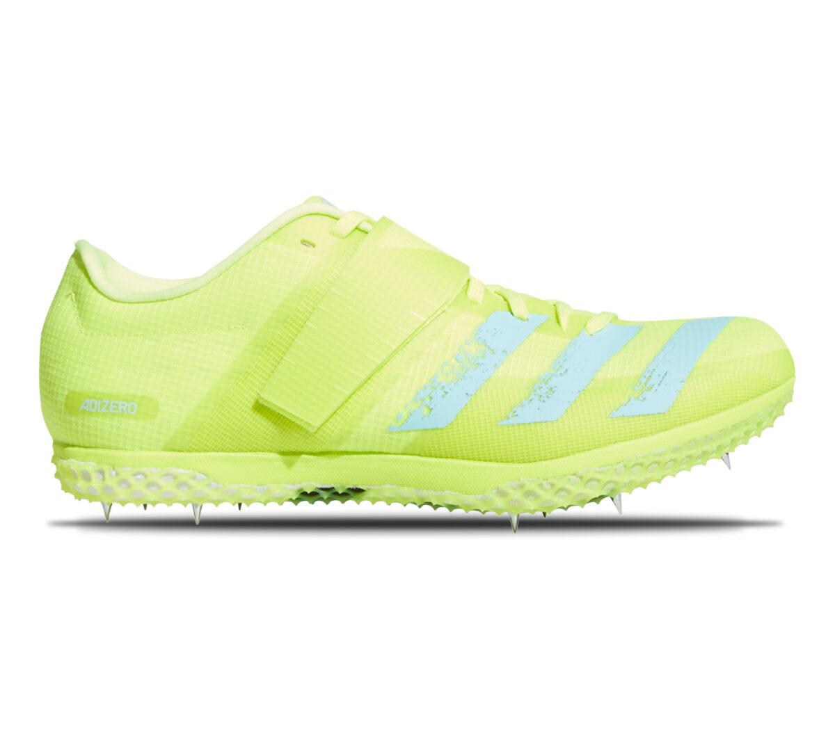 scarpa da pista per salto in alto adidas adizero hj fluo