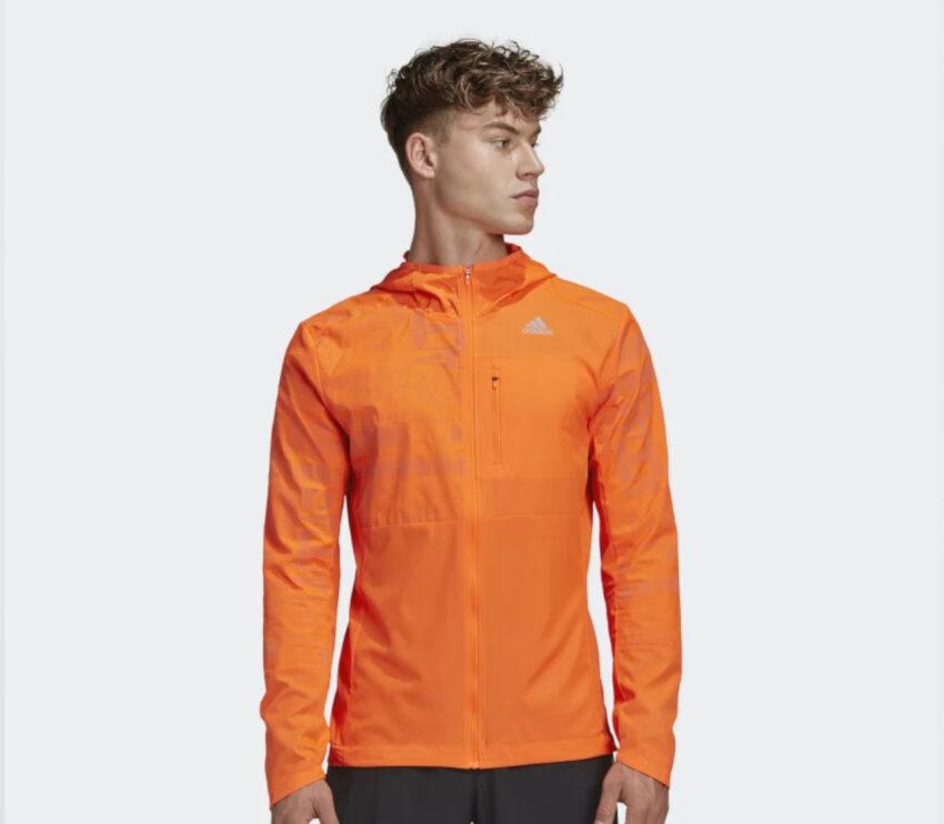 giacca adidas uomo running arancione own the run jkt