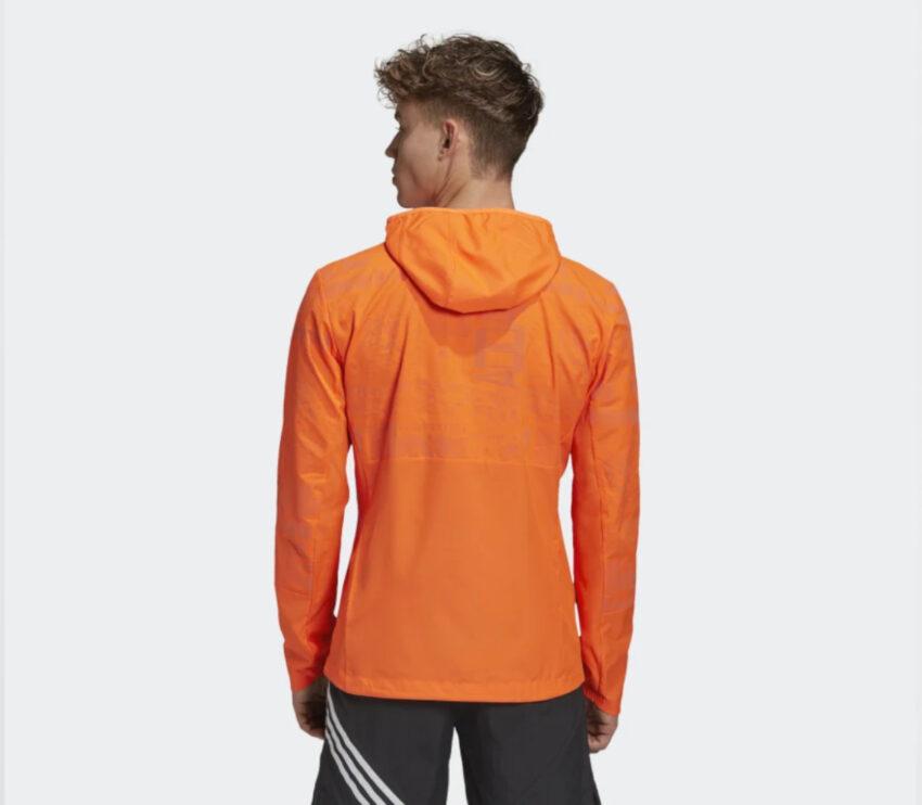 retro giacca adidas uomo running arancione own the run jkt