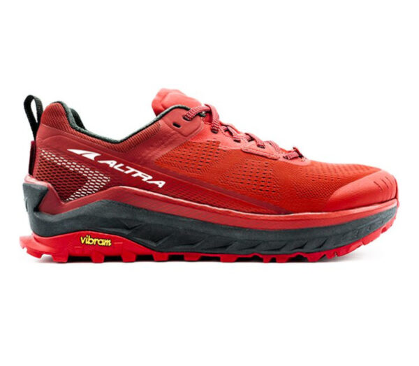 scarpa da trail running altra olympus 4 rossa