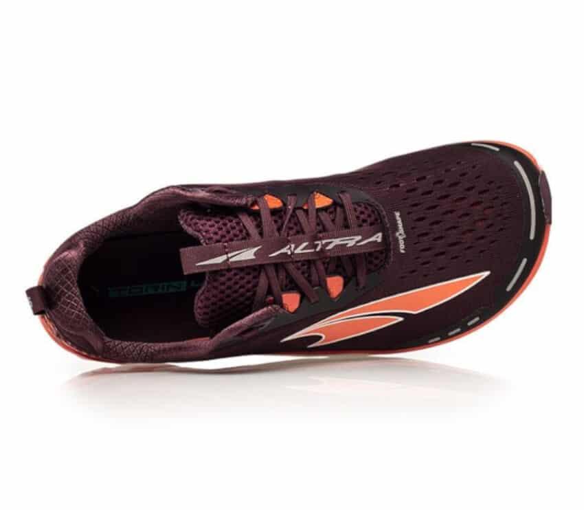scarpa altra running da donna torin 4 vista da sopra