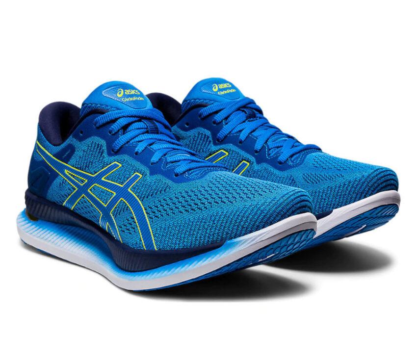 asics glideride colorazione blu scarpe running